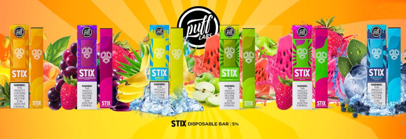 Puff Stix Disposable Banner