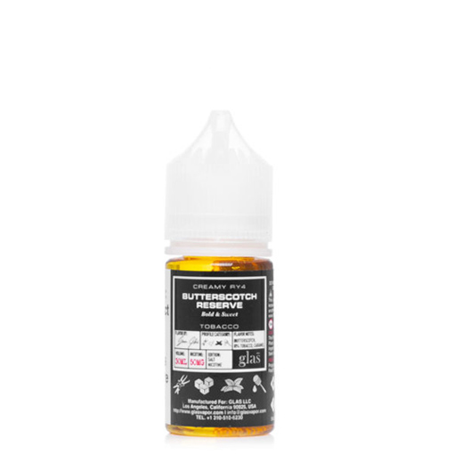Glas Basix Salts Butterscotch Reserve Vape Juice