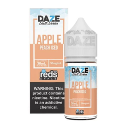 7 daze Salt reds Peach ICED vape juice