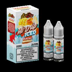 Hi Drip ICED Salts PEACHY MANGO Vape Juice