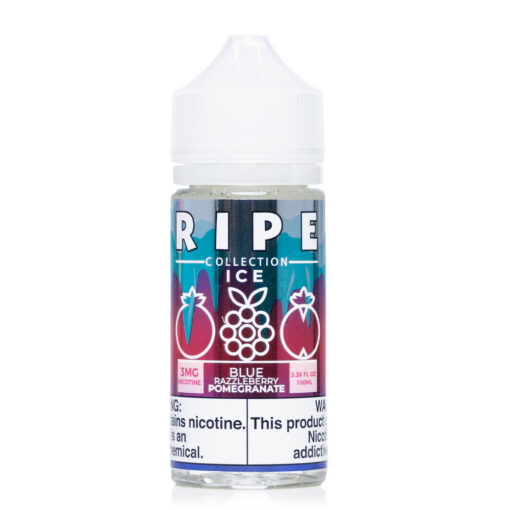 Ripe - ICE Collection Blue Razzleberry Pomegrante ICE eJuice by Vape 100